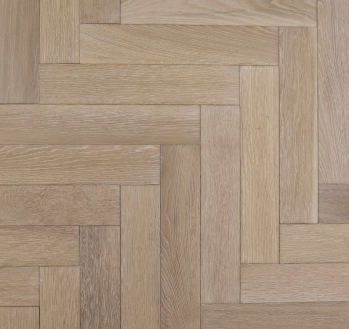 Whitewash parquet oak flooring blocks
