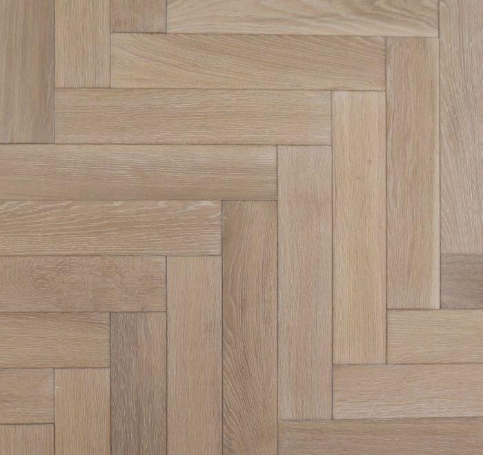 Whitewash parquet oak flooring blocks