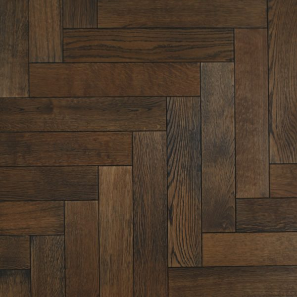 Warm oak parquet wood flooring