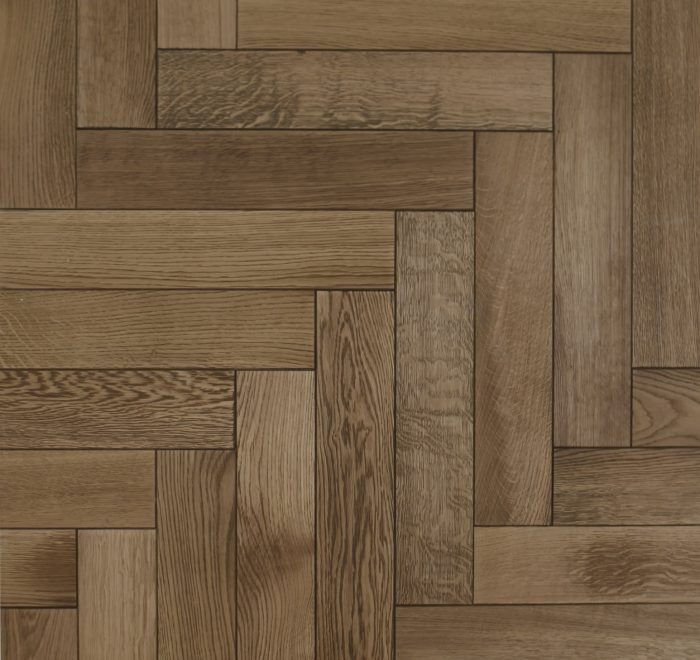 Light oak parquet floor