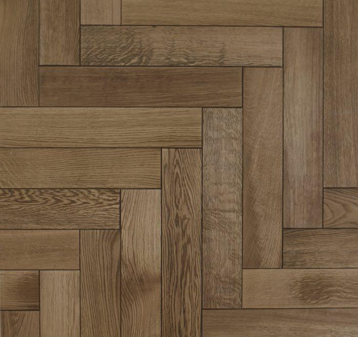 Light oak parquet floor