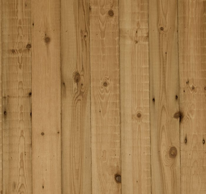 Reclaimed raw pine cladding sample board