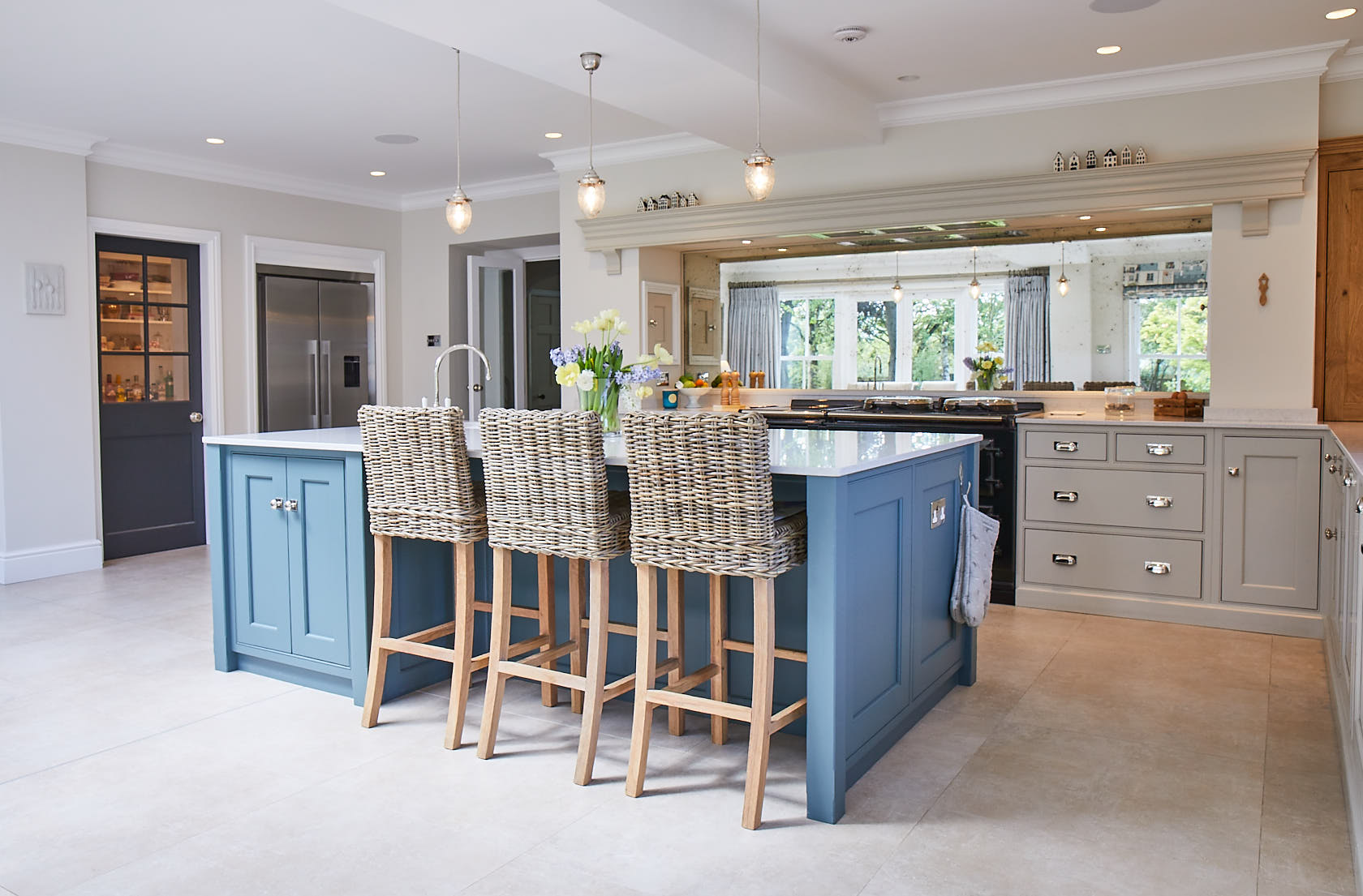 Wicked breakfast bar stools under kitchen island