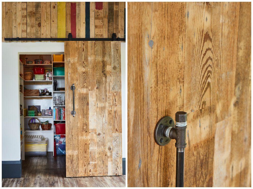 Reclaimed engineered sliding barn door
