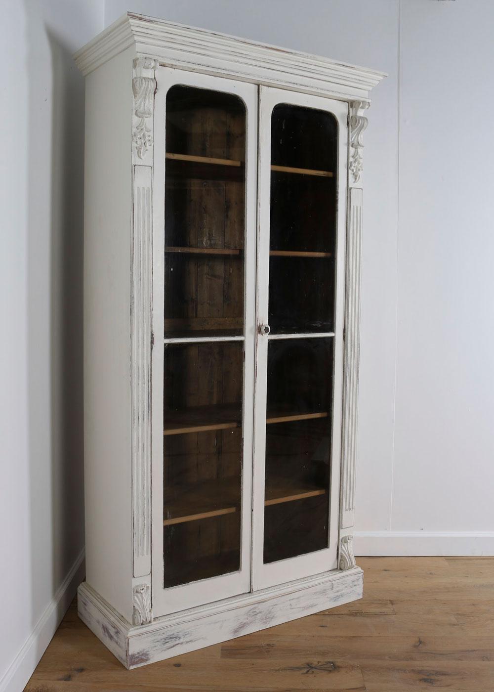 White china display cabinet