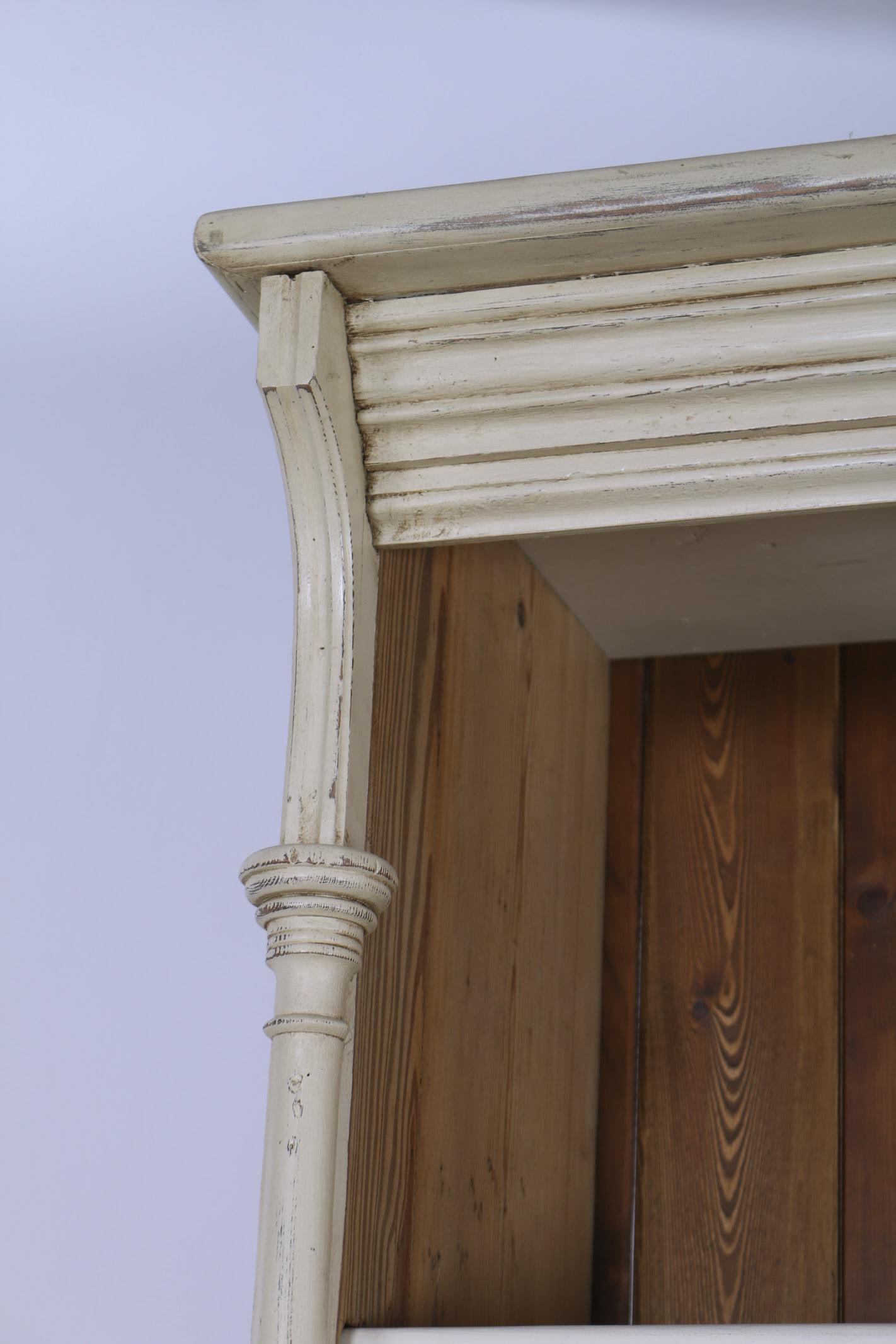 Original cream dresser cornice detail
