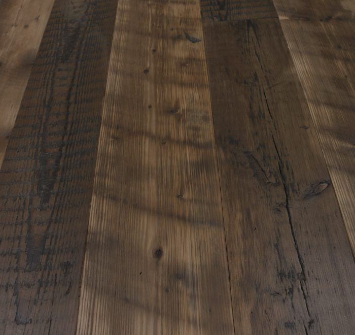 Reclaimed pine floor boards