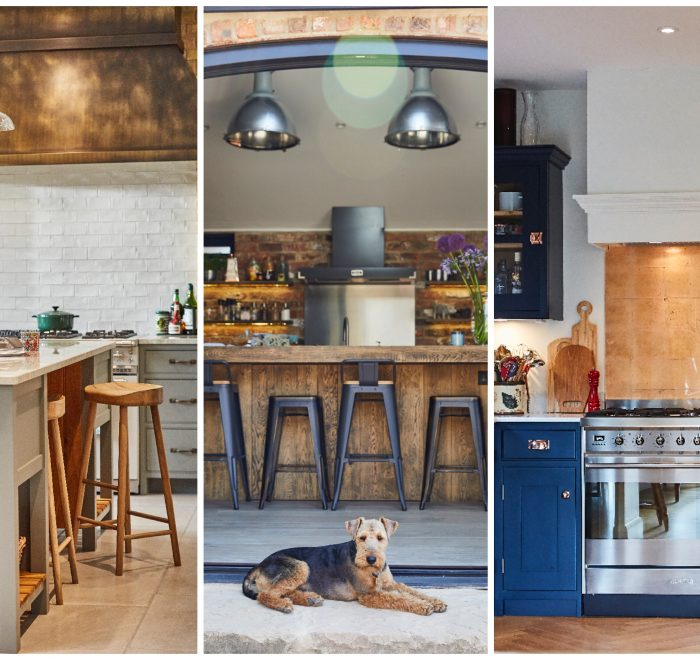 Bespoke painted kitchens with dog