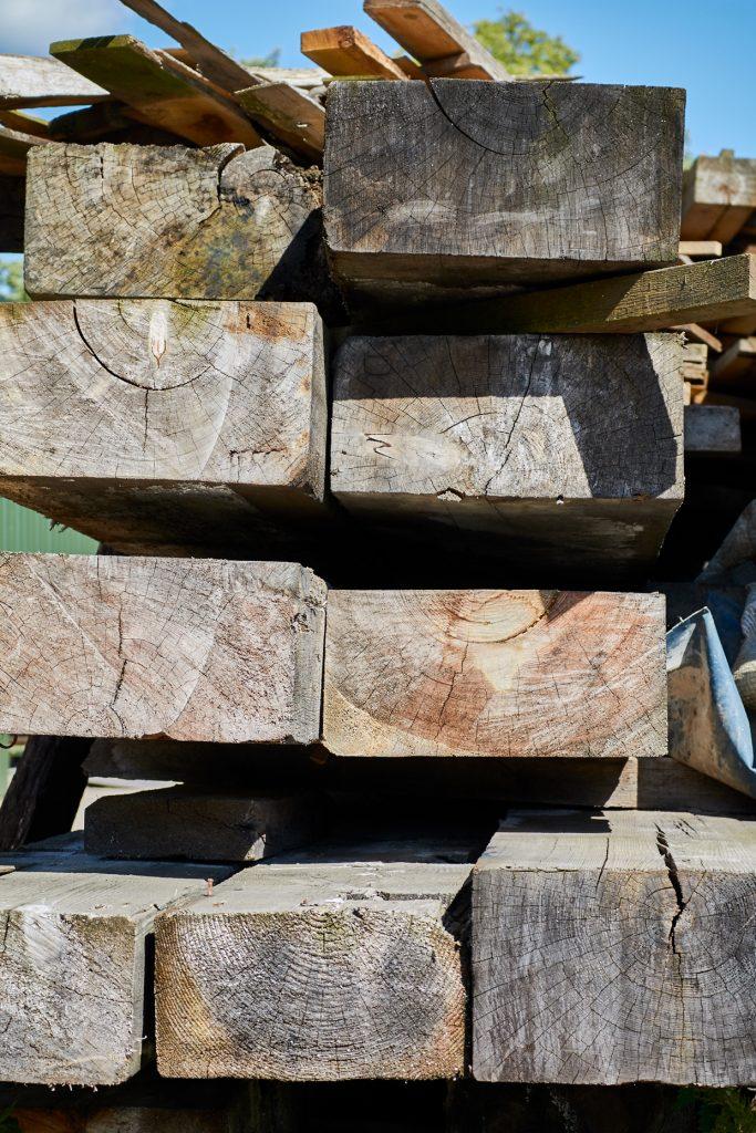 Reclaimed woodyard wood
