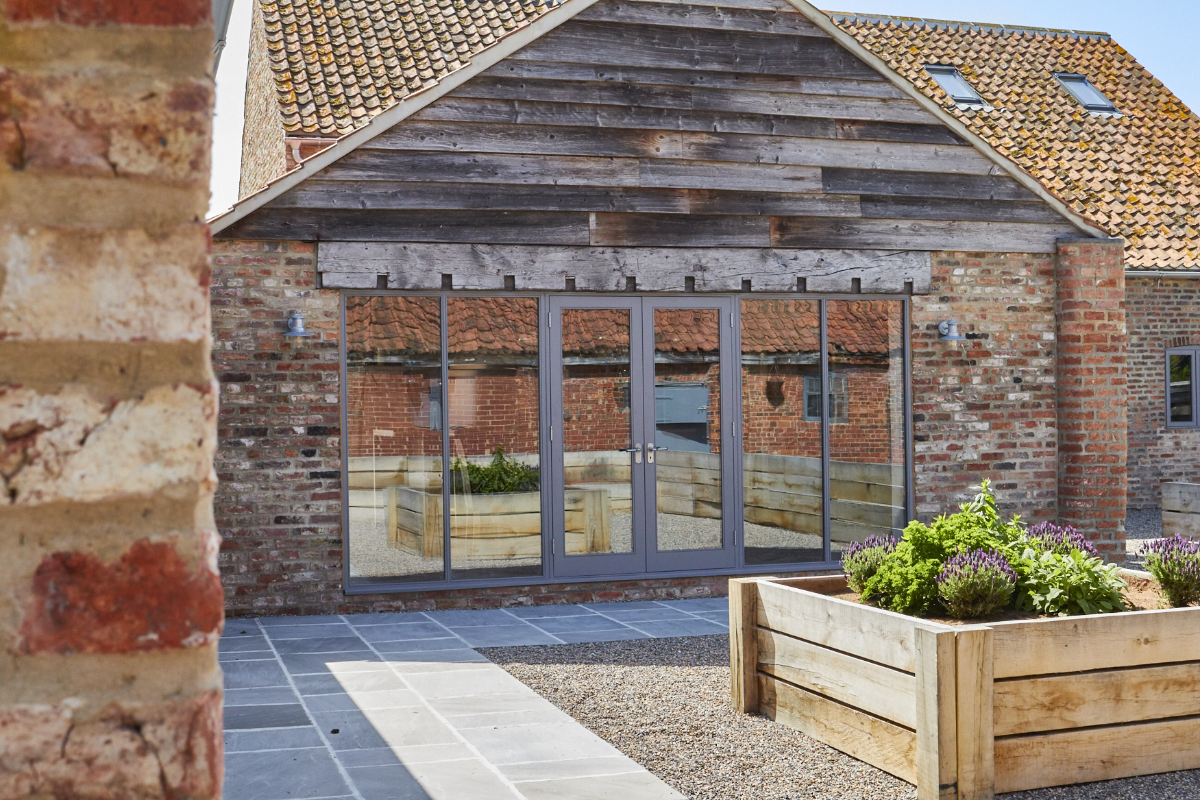 Moor Monkton Barn outdoor cladding