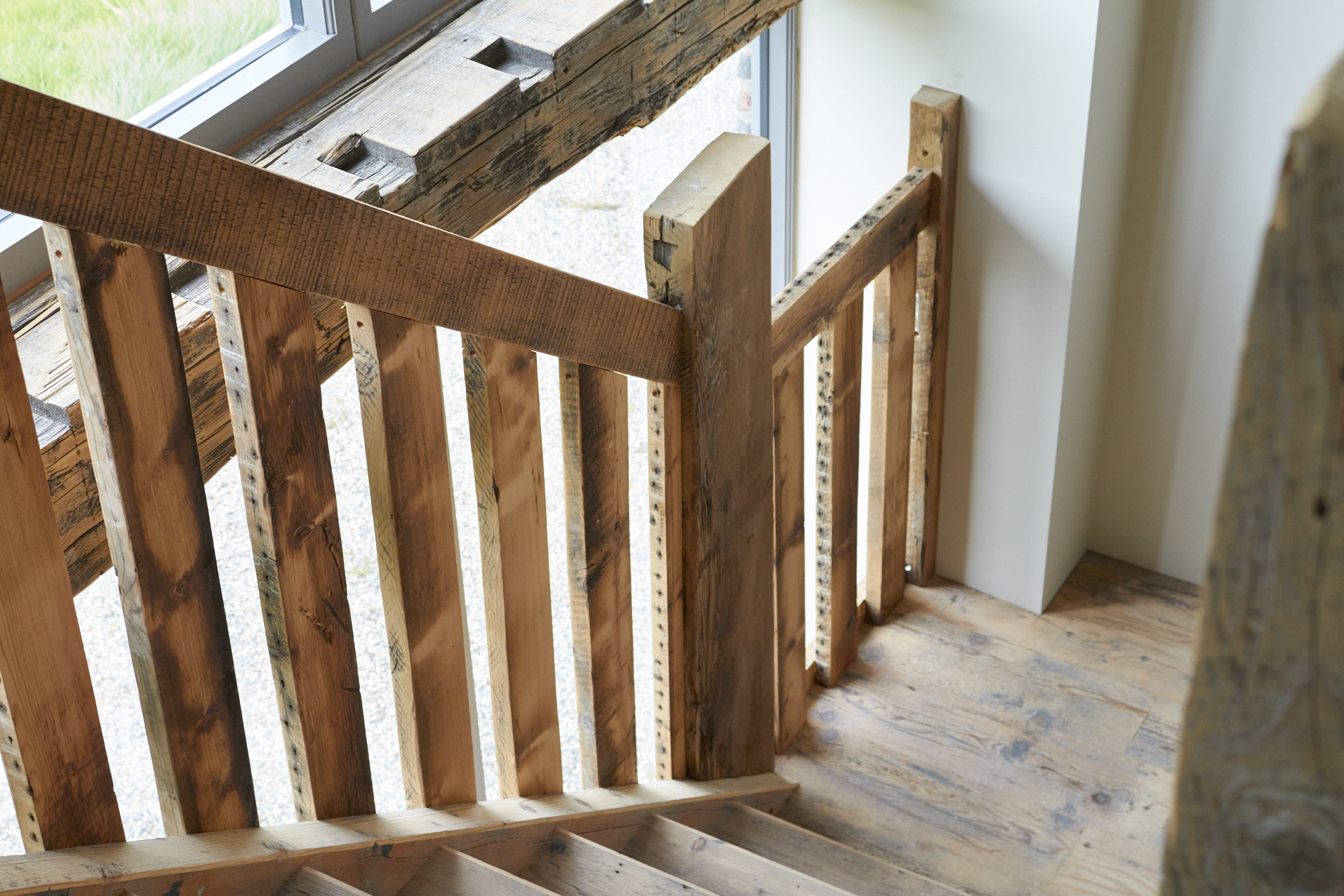 Reclaimed pine staircase