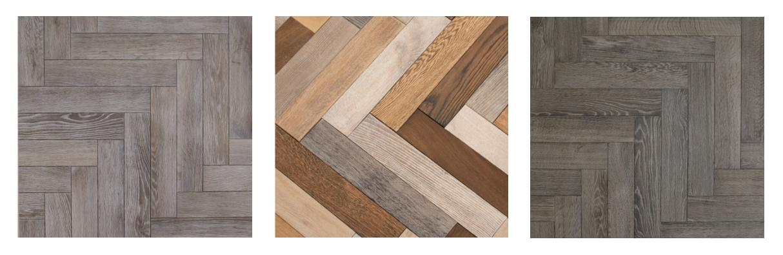 Panels made from parquet oak flooring
