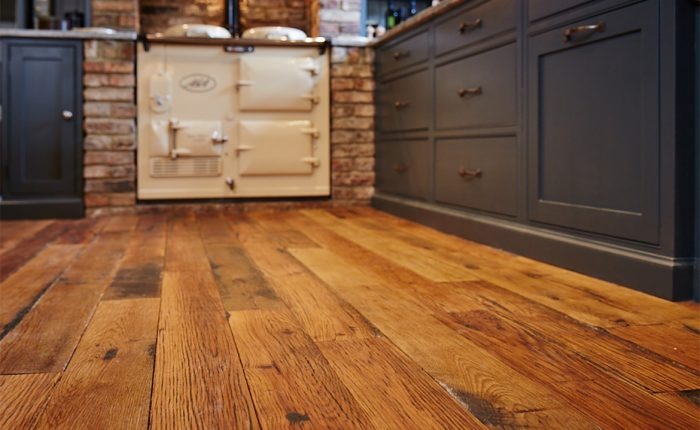 Reclaimed engineered oak floor