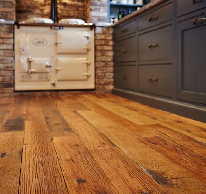 Reclaimed engineered oak floor