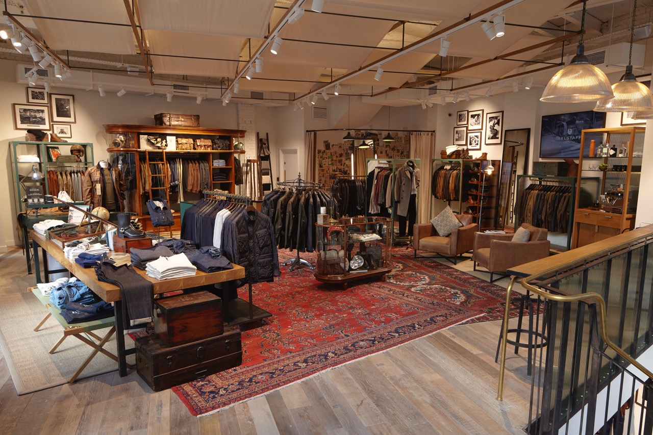 Shoe and clothes shop with rustic vintage interior