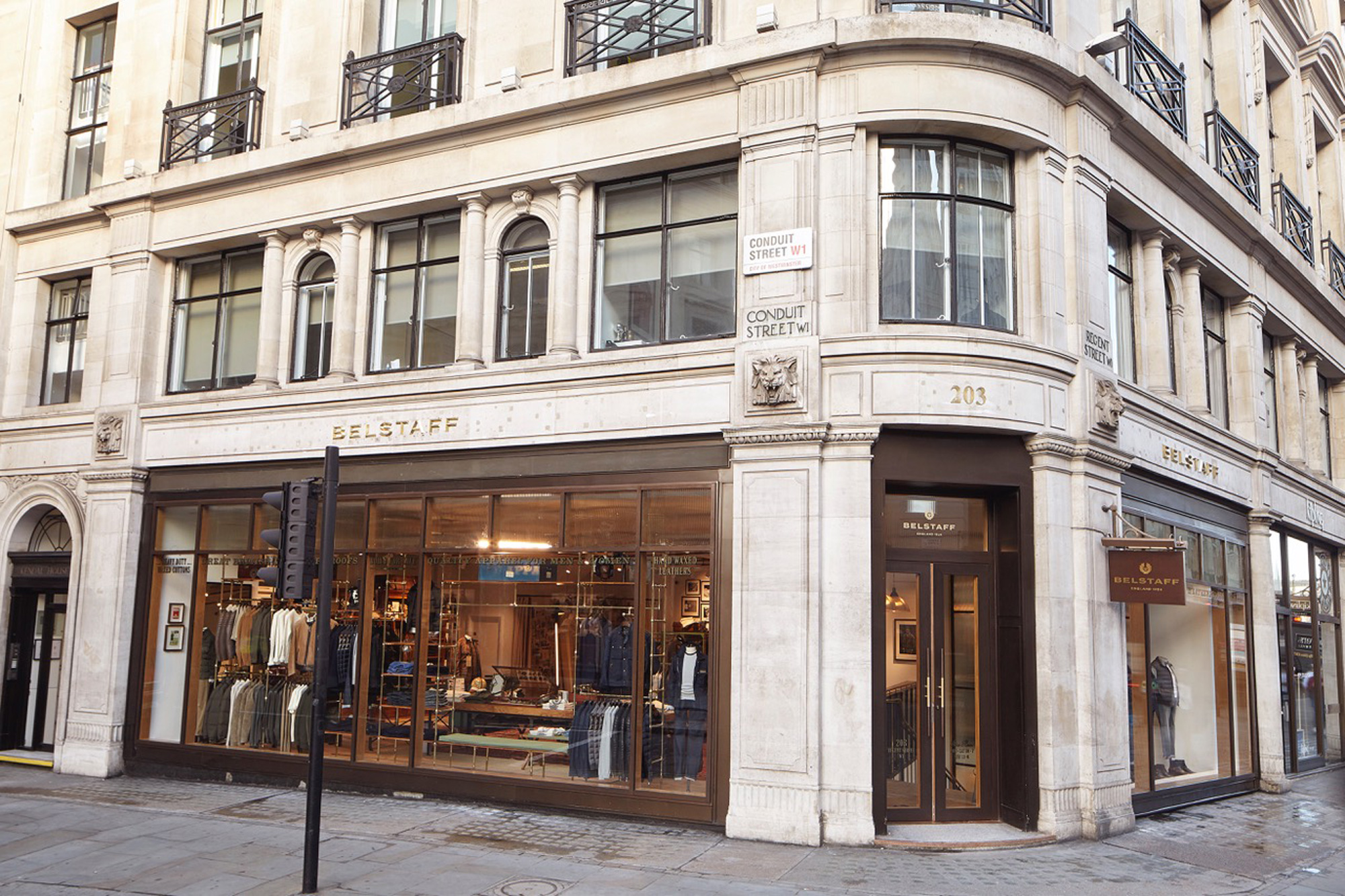 Belstaff exterior shop front