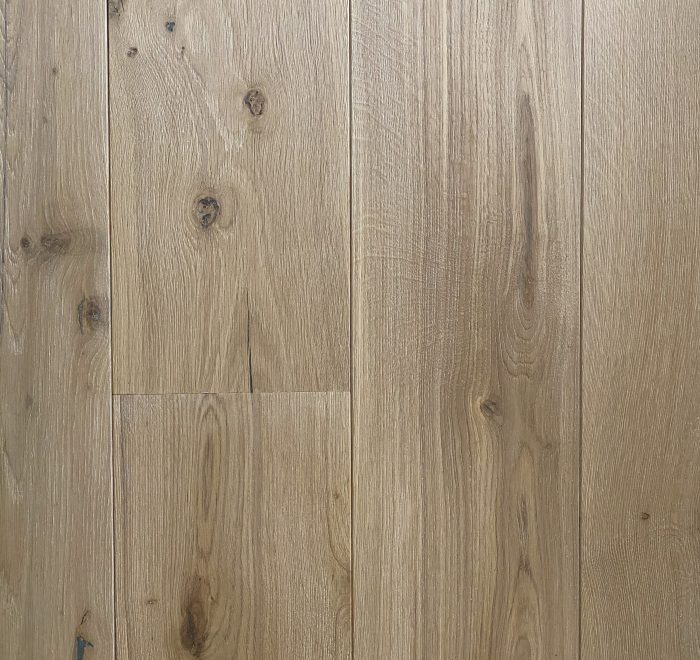 Natural white oak floorboards