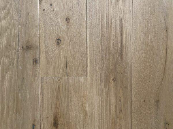 Natural white oak floorboards