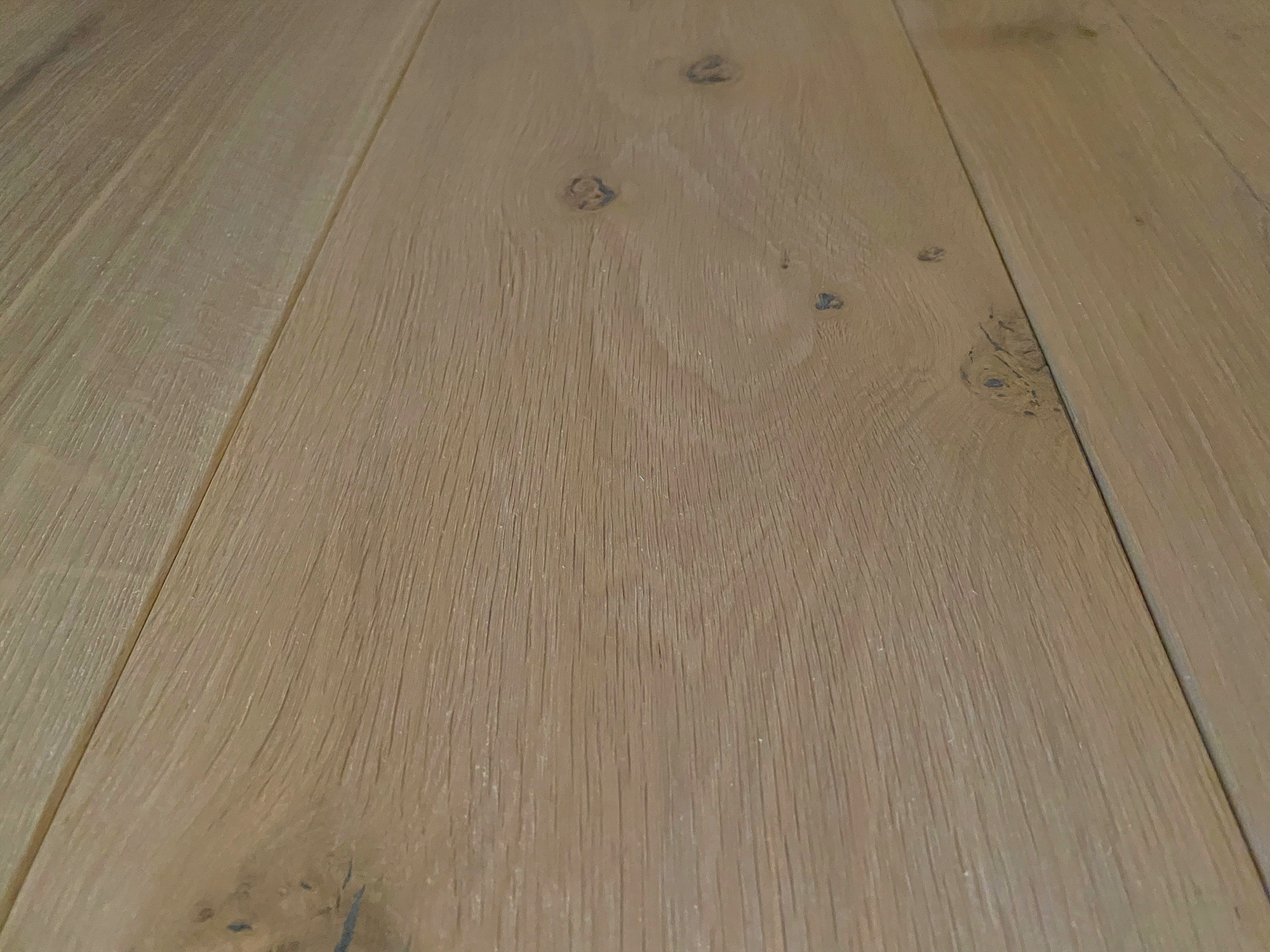 Engineered oak floor boards