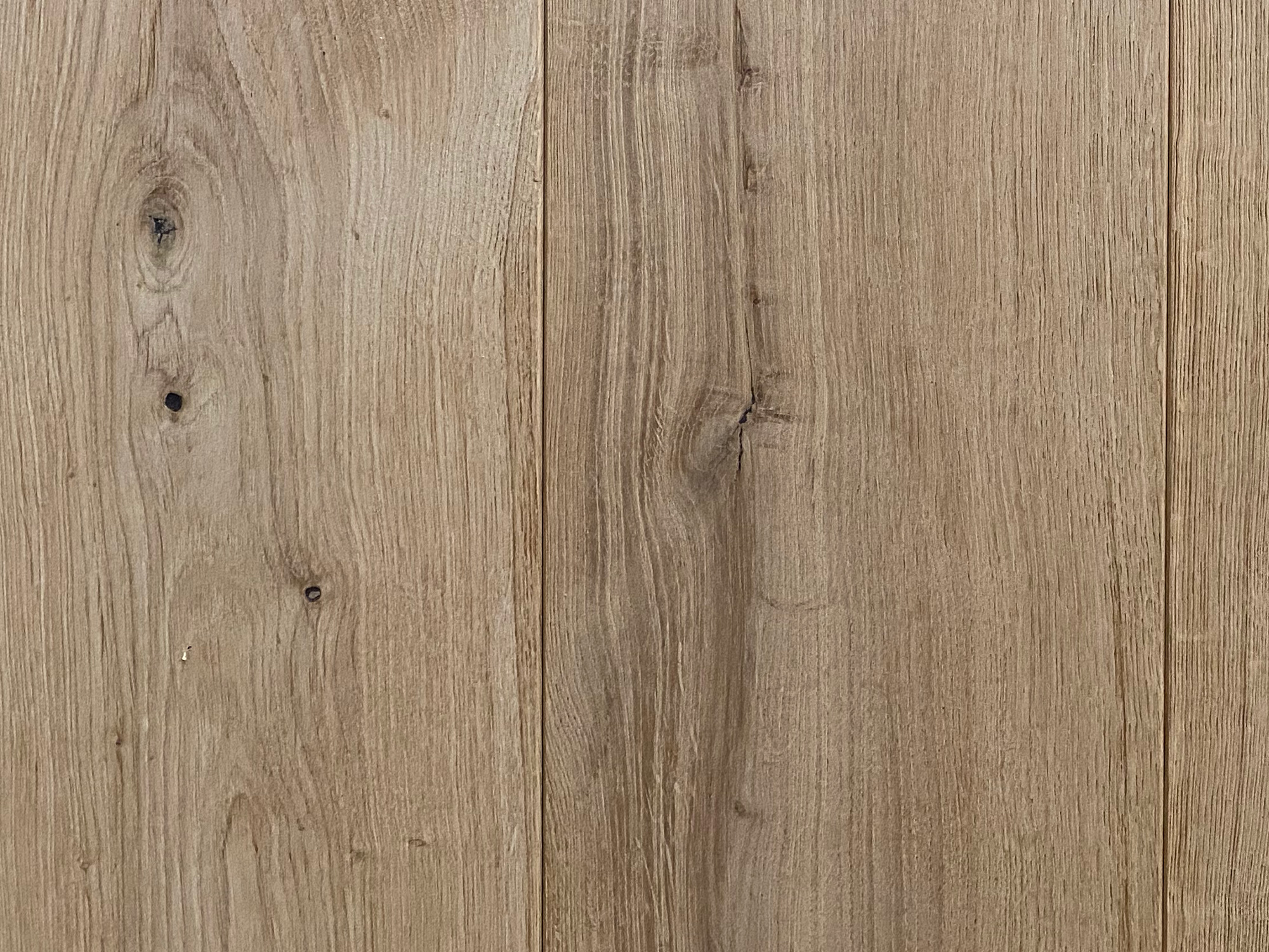 close up of knot on oak flooring