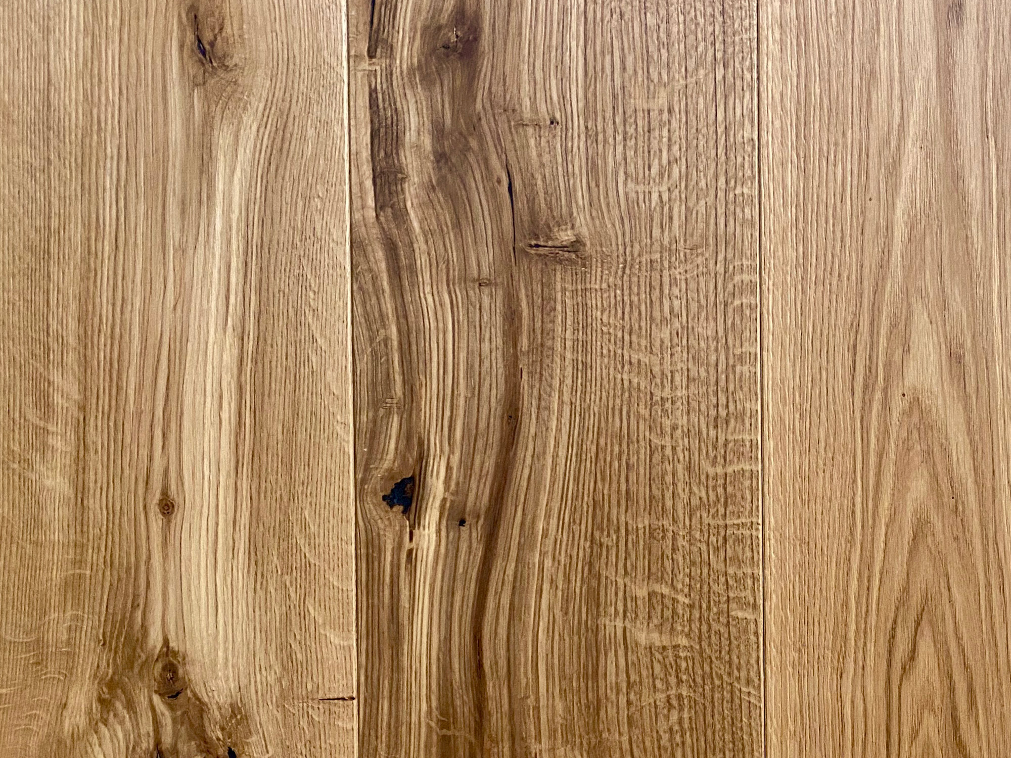 Knot on golden oak sample board