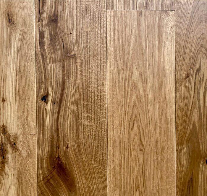 Engineered oak flooring sample