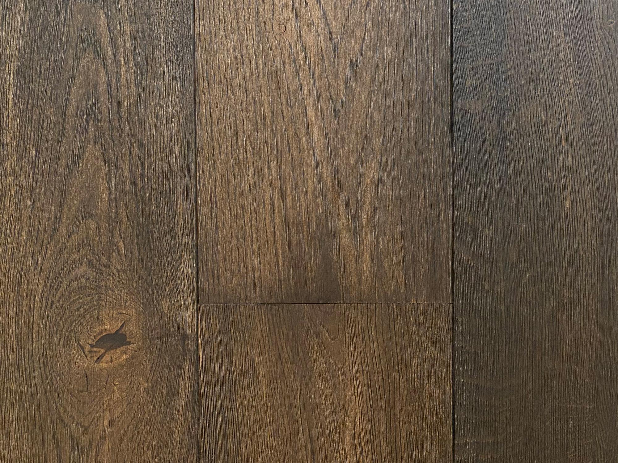 Dark oak engineered floor boards