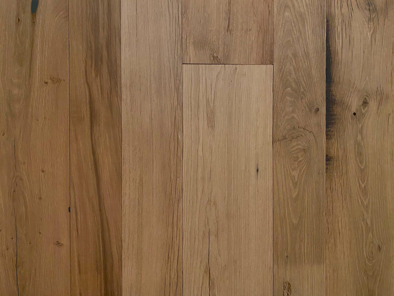 Reclaimed flooring in clean oak finish