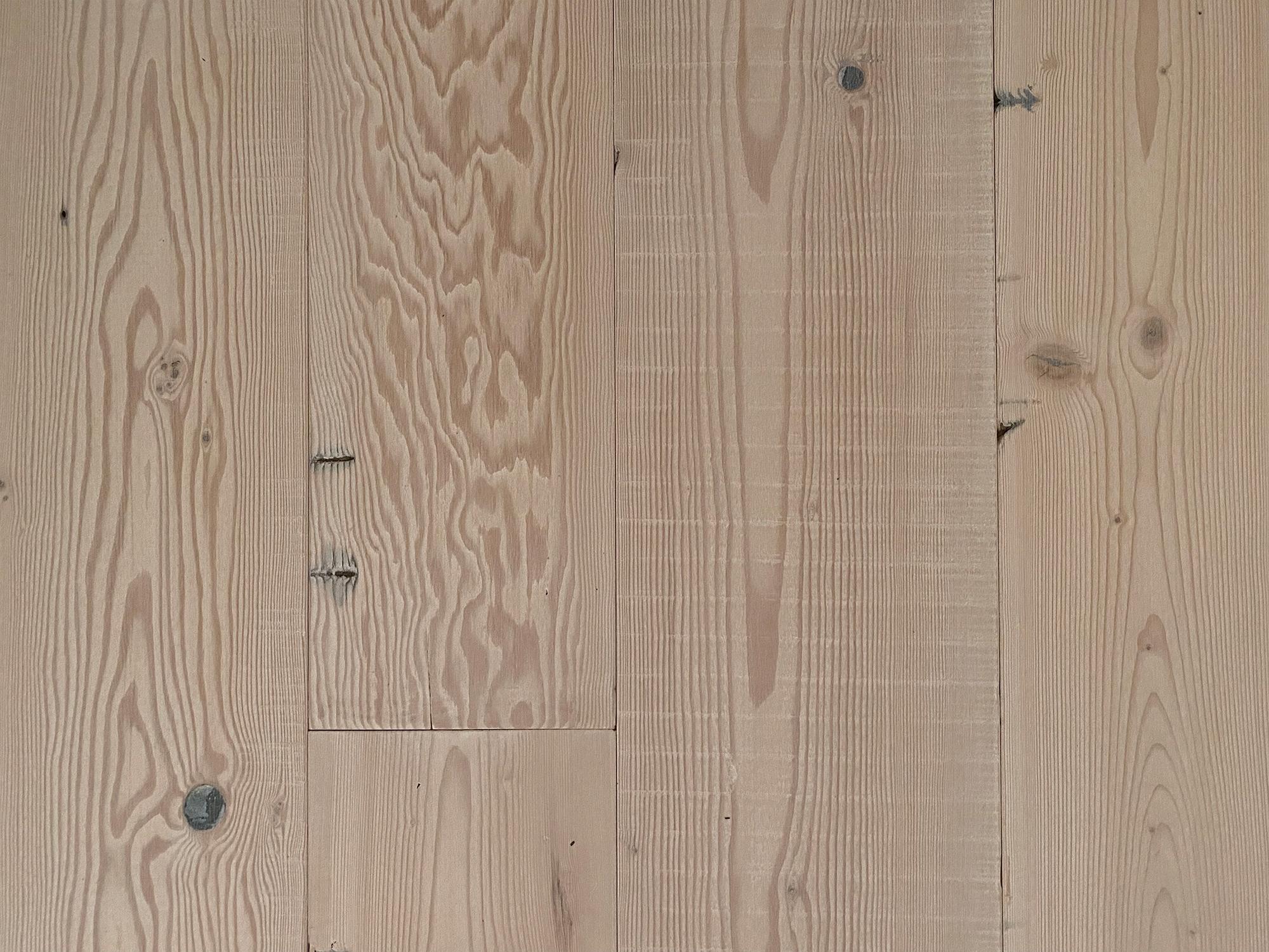 Whitewash reclaimed pine flooring