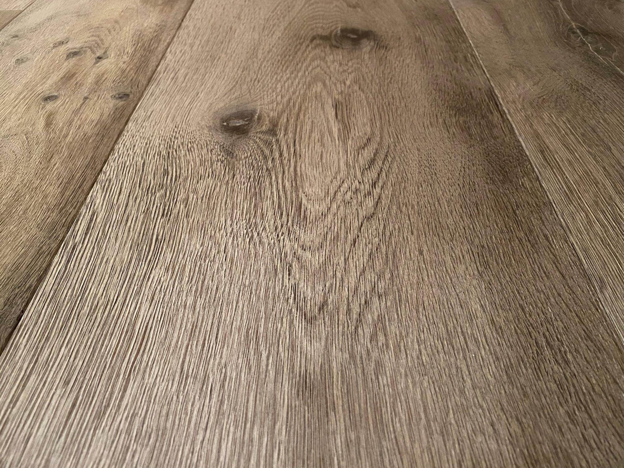 Burnt grey oak flooring plank