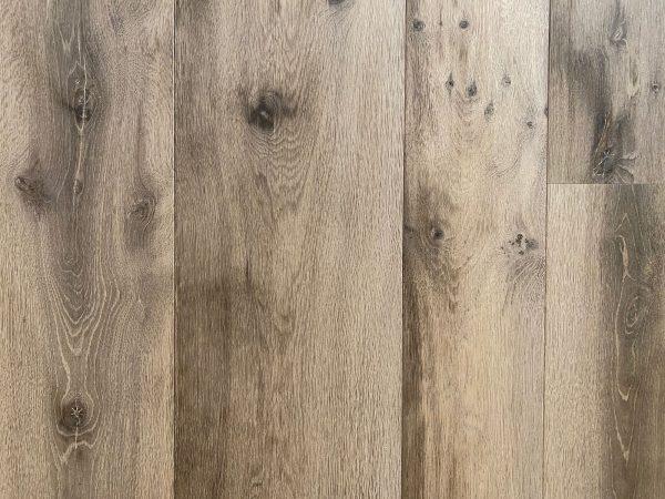 Sample board of ENG109 grey oak flooring