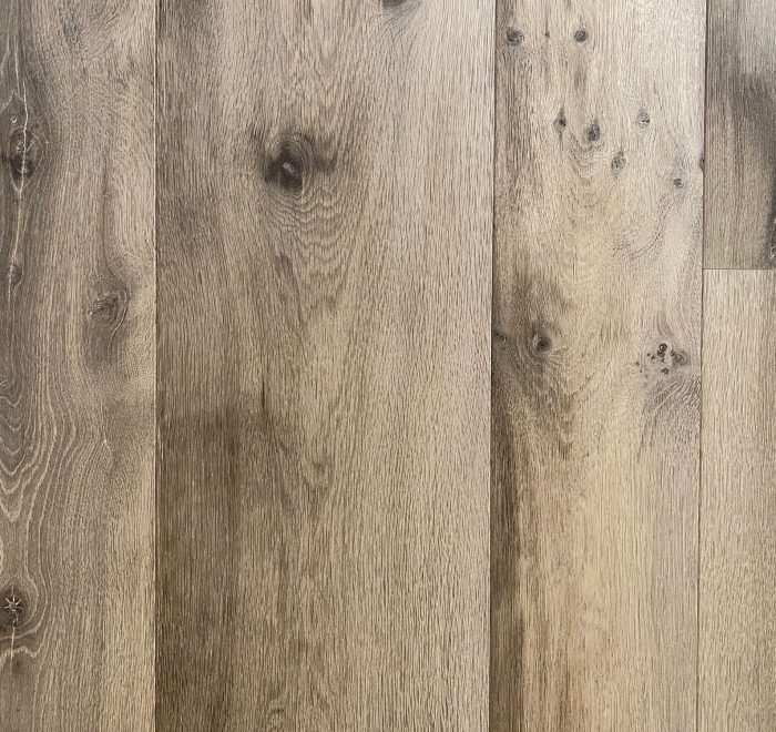 Sample board of ENG109 grey oak flooring