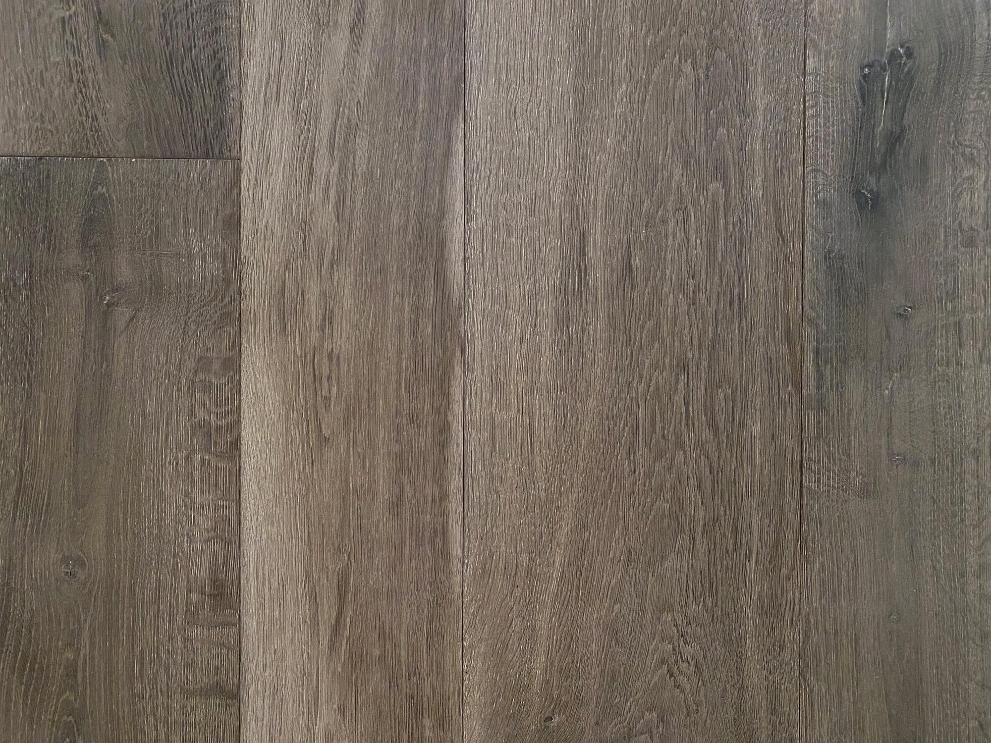 Dark grey engineered flooring sample board