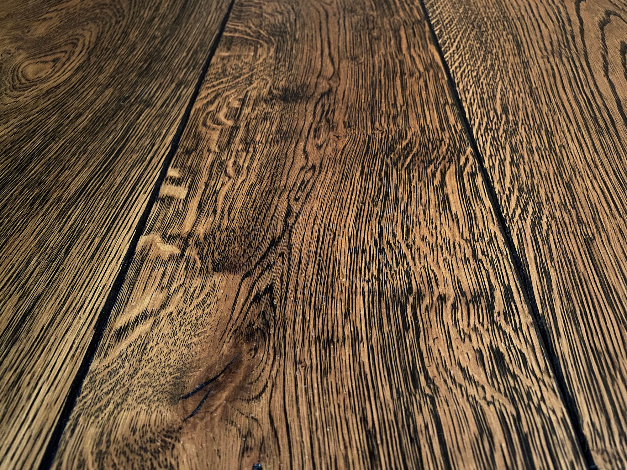 Rich dark engineered oak flooring
