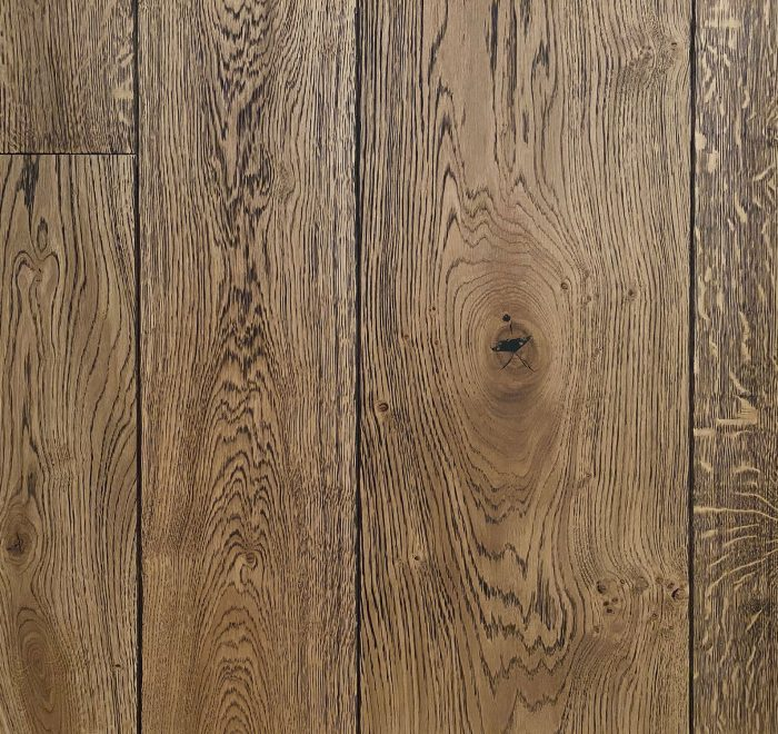 Oak flooring on sample board