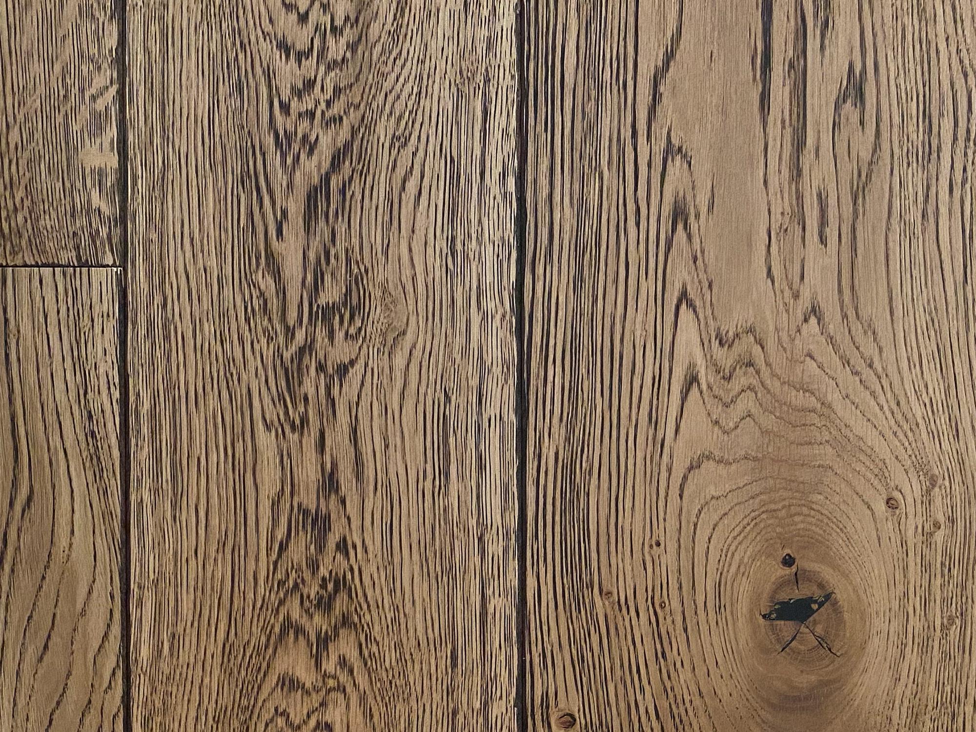 Light rustic engineered oak floor boards