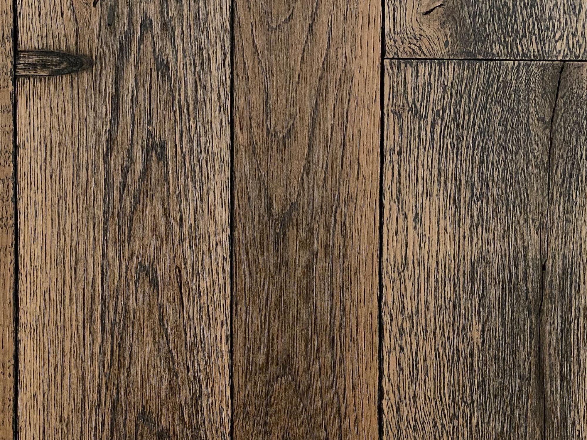Smoked oak engineered wood flooring