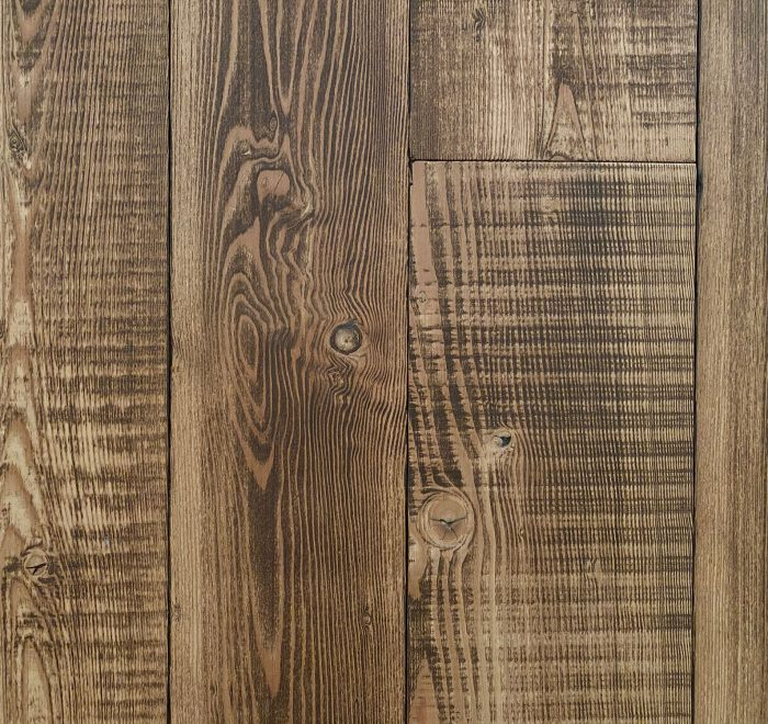 Reclaimed dark pine flooring