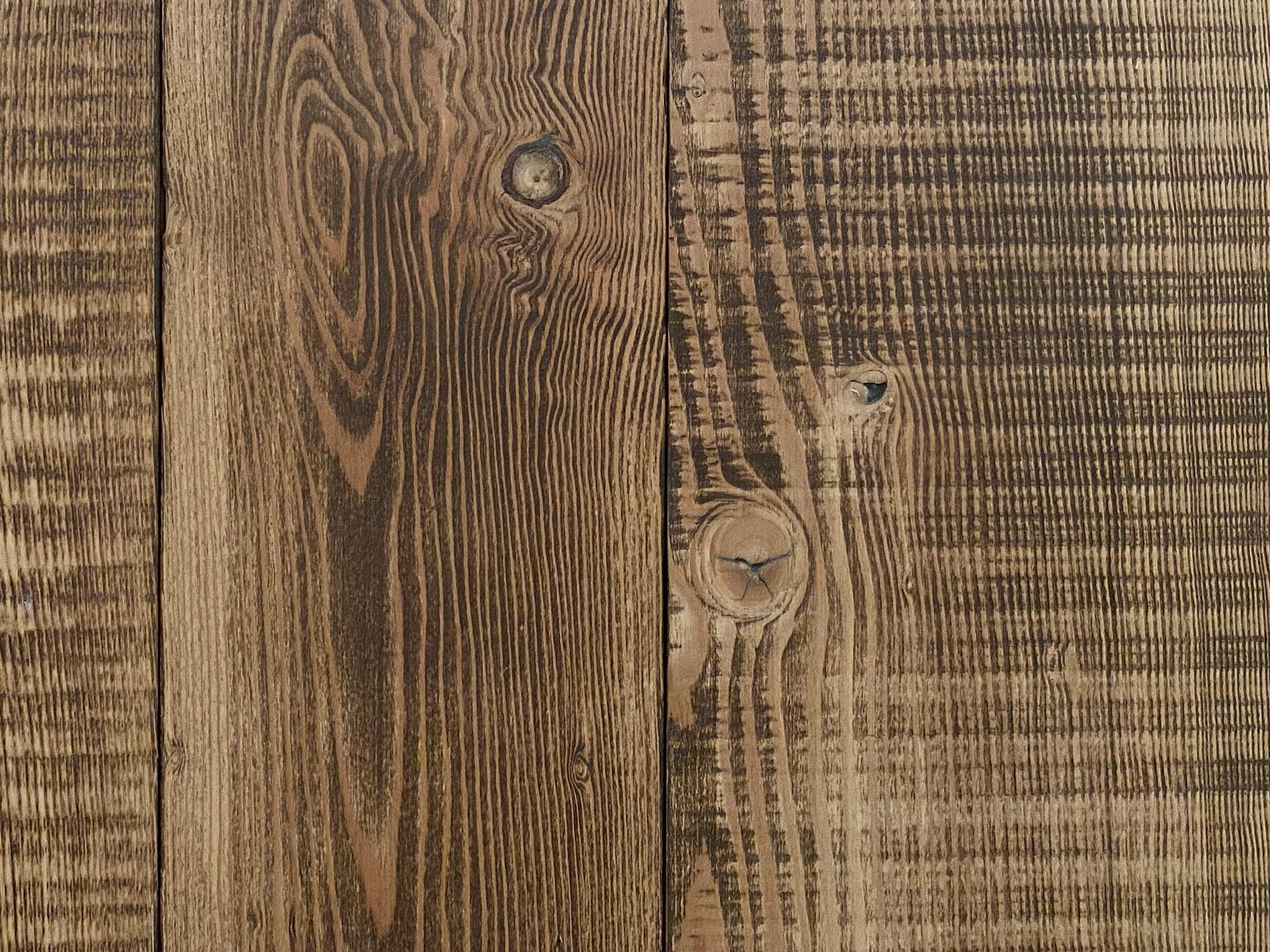 Reclaimed brown flooring sample board