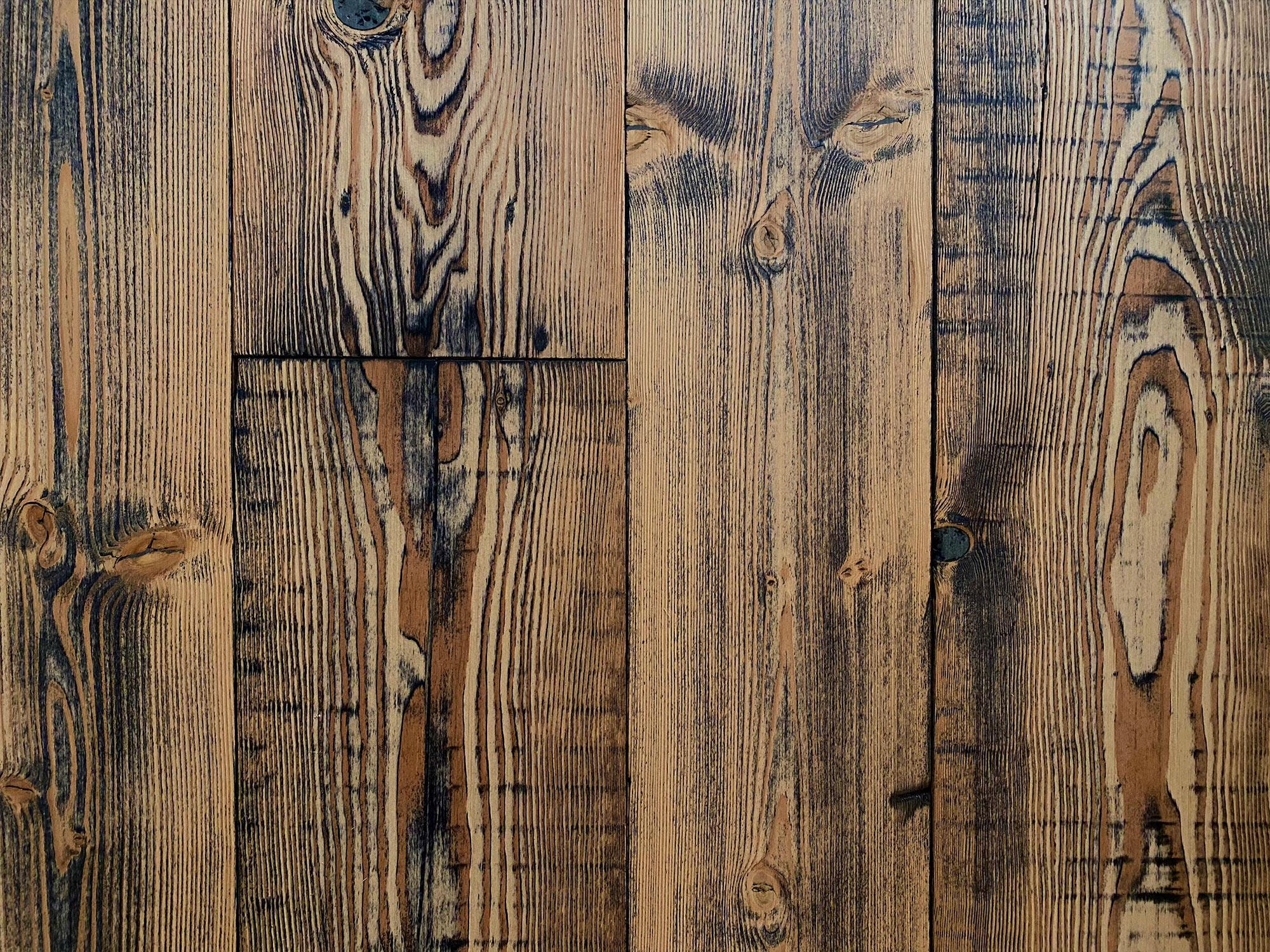 Reclaimed engineered pine floor boards
