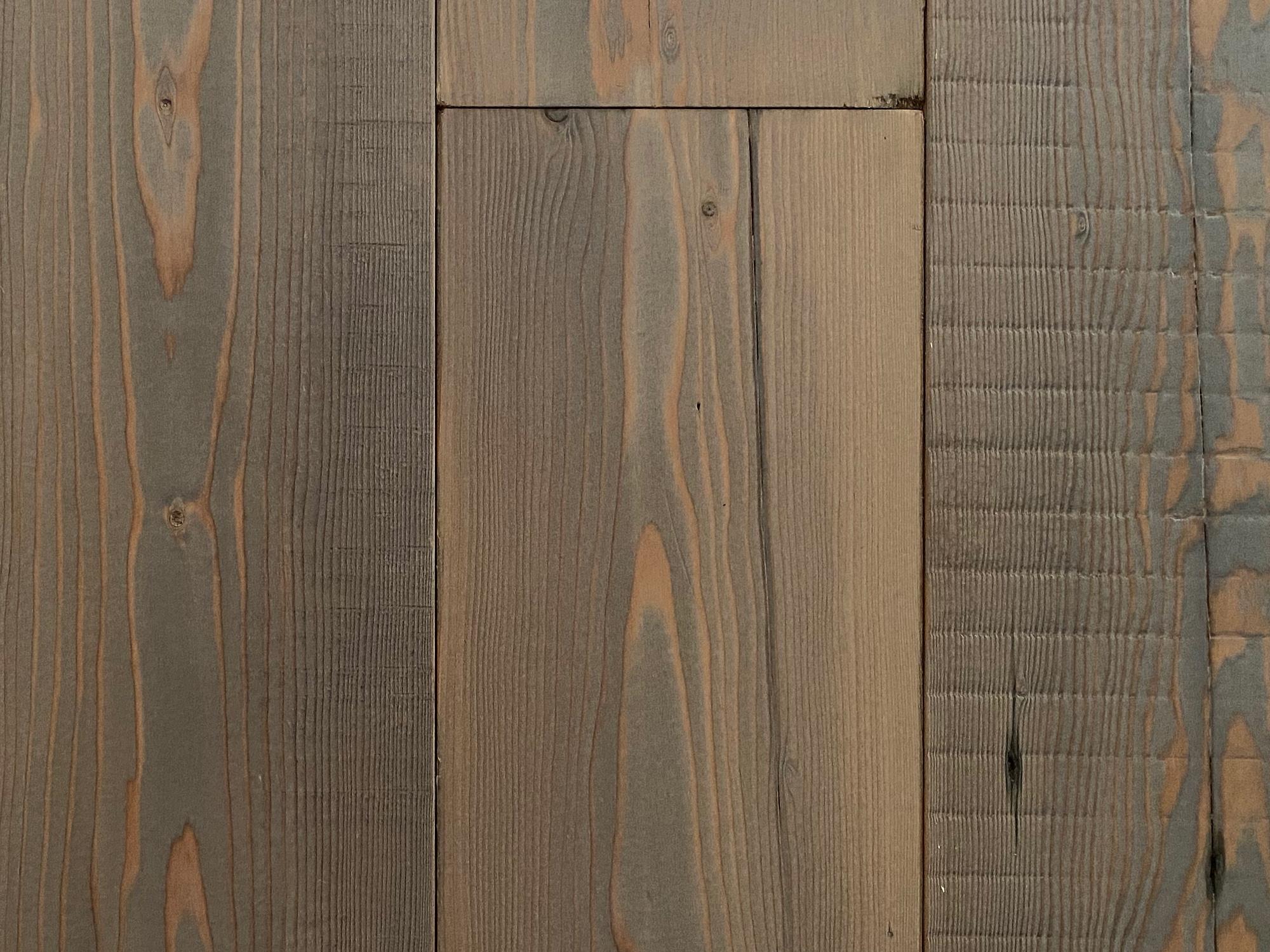 Reclaimed old grey flooring