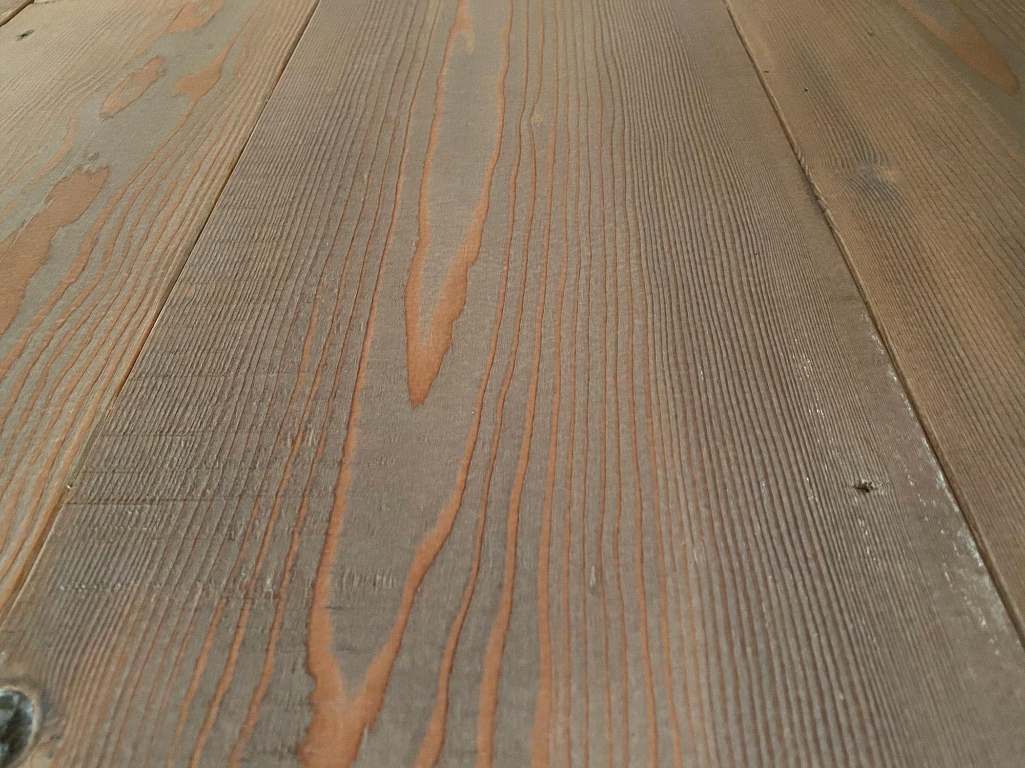 Old grey grain in reclaimed flooring