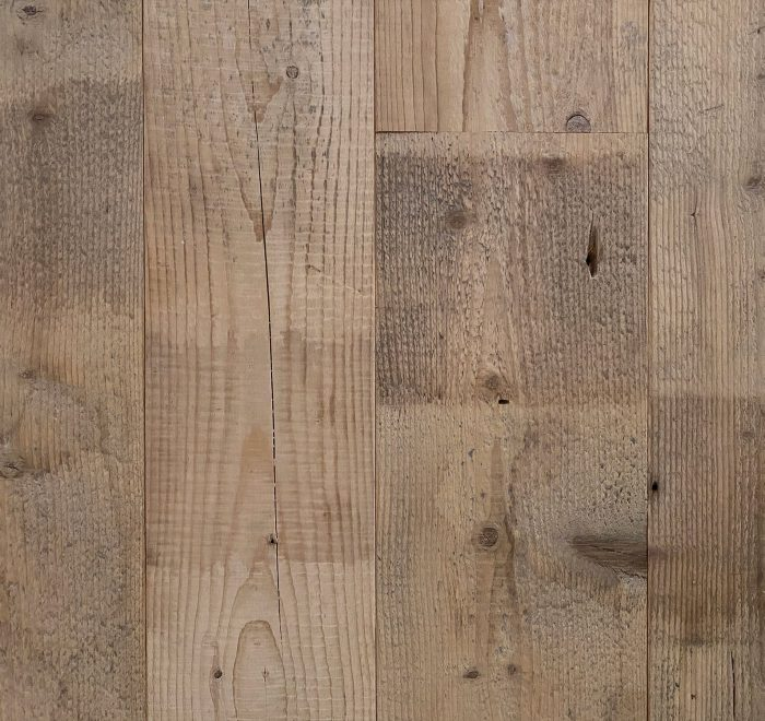 Reclaimed raw pine floorboards