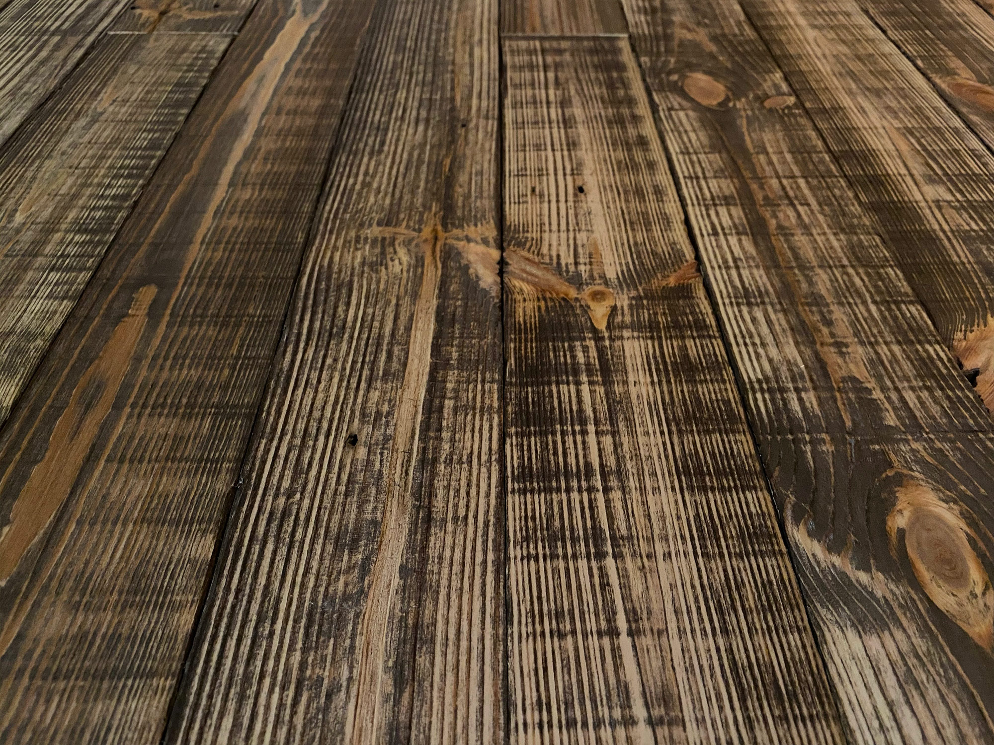 Rustic reclaimed brown wall cladding