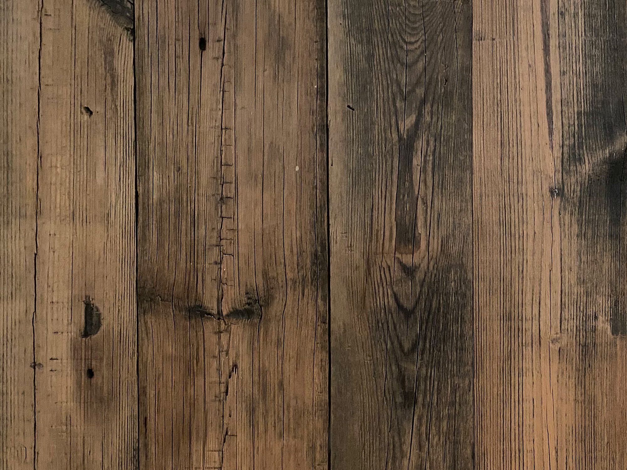 Brushed brown reclaimed cladding