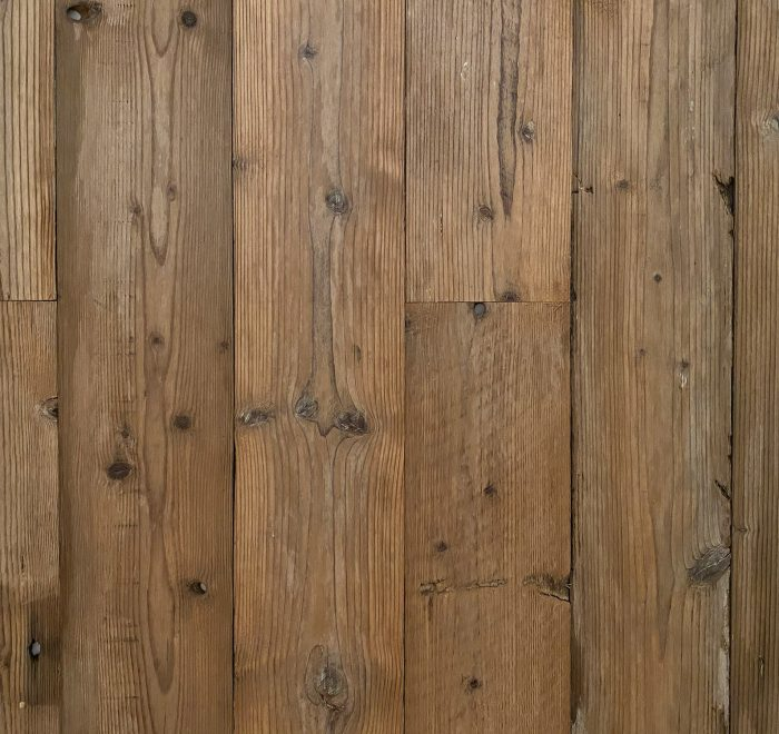 Sample of reclaimed timber wood cladding