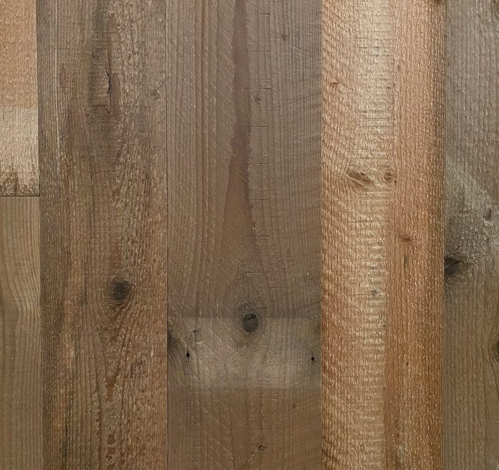 Light brown barn board wood clad sample board
