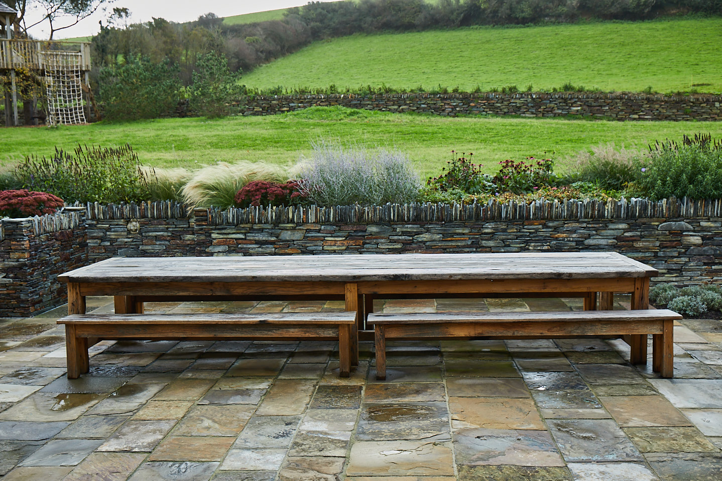 Large outside table and benches