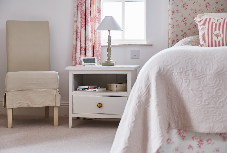 Square painted bedside unit