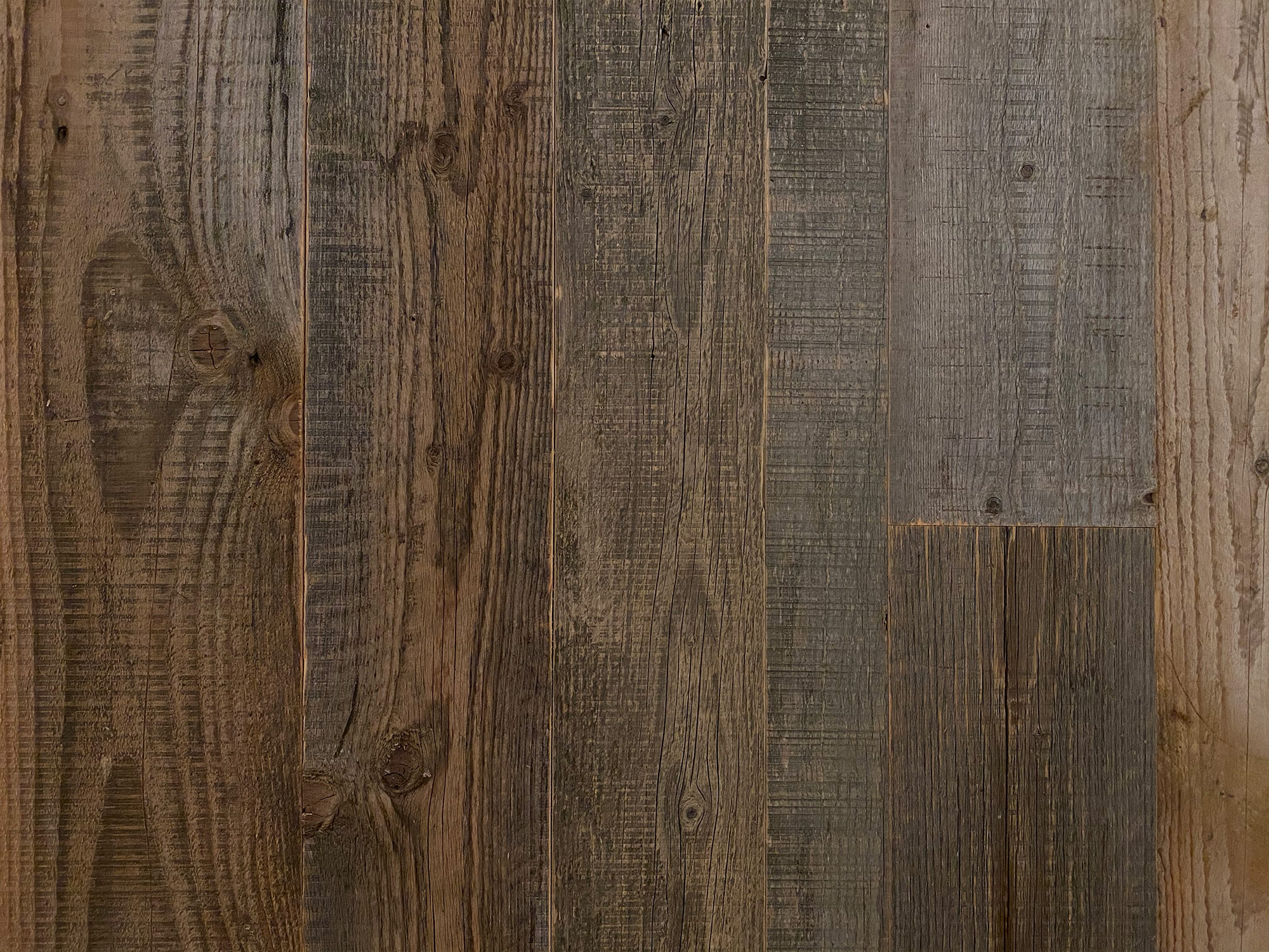 Sample board of reclaimed cladding